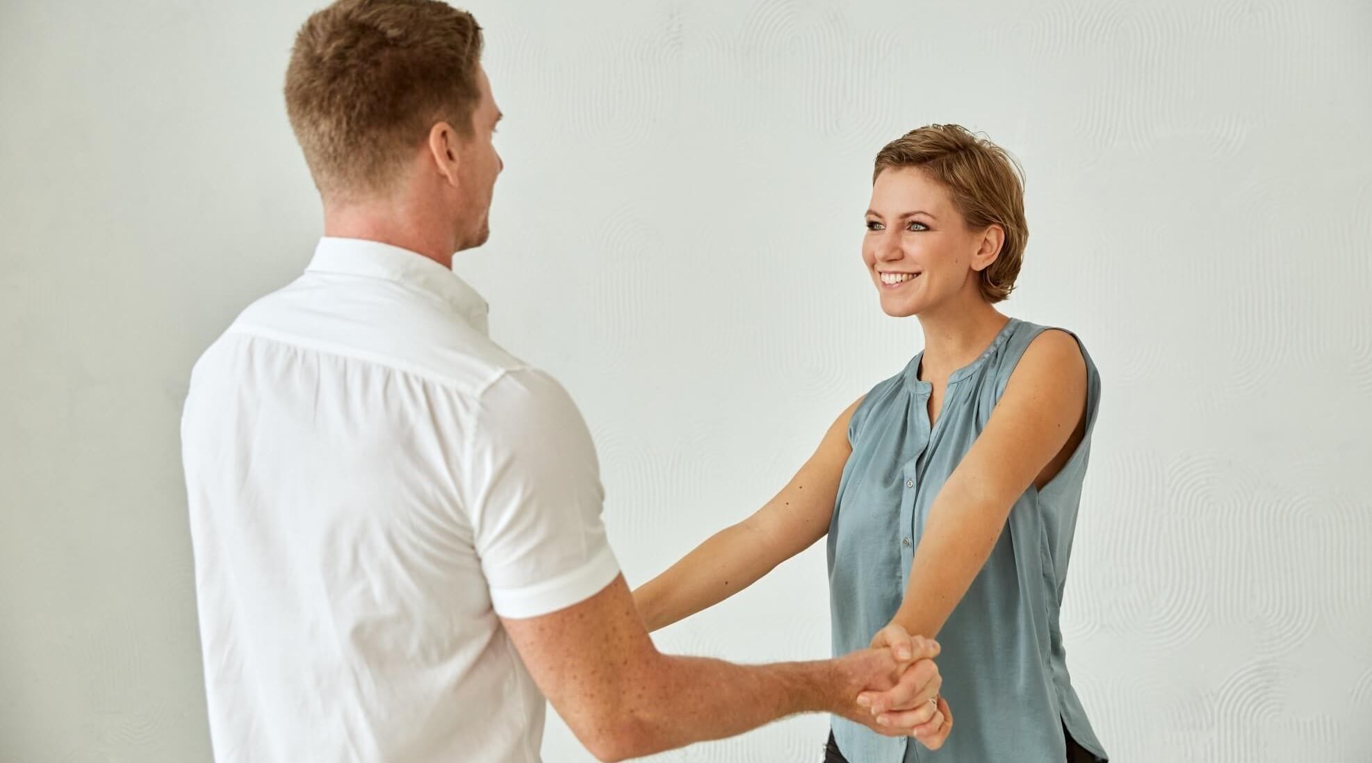 Bianka Findeisen als Tanzlehrerin